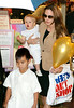 16 June 2007 - New York, NY - Angelina Jolie goes takes Shiloh and Maddox out shopping at Lee's Art Shop.  Photo Credit Jackson Lee