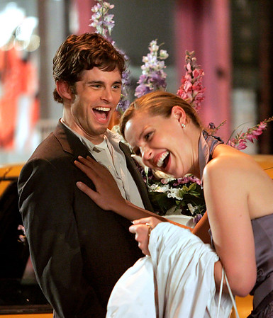 9 July 2007 - New York, NY - Katherine Heigl and James Marsden on the set of '27 Dresses'.  Photo Credit Jackson Lee