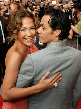 26 July 2007 - New York, NY - Jennifer Lopez and Marc Anthony at the NY Premiere of 'El Cantante'.  Photo Credit Jackson Lee