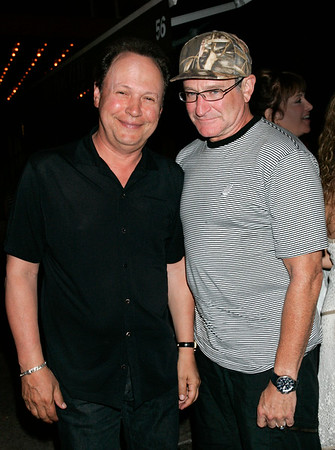 28 July 2007 - New York, NY - Best pals Billy Crystal and Robin Williams have a relaxing dinner at Homestead.  Photo Credit Jackson Lee