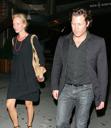 2 Aug 2007 - New York, NY - Uma Thurman and new boyfriend Arpad Busson out and about in NYC.  Photo Credit Jackson Lee