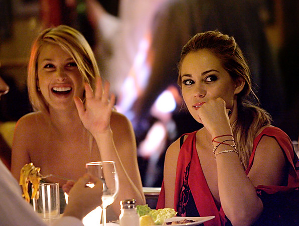 14 Aug 2007 - New York, NY - Lauren Conrad and Whitney Port film their reality show 'The Hills' at Da Silvano.  Photo Credit Jackson Lee