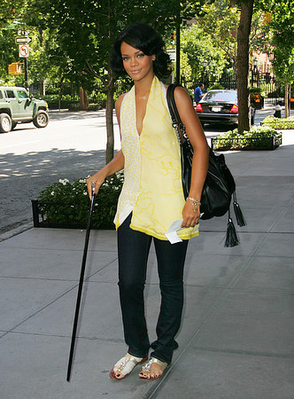 EXCLUSIVE 14 Aug 2007 - New York, NY - Rihanna out and about in NYC.  Photo Credit Jackson Lee