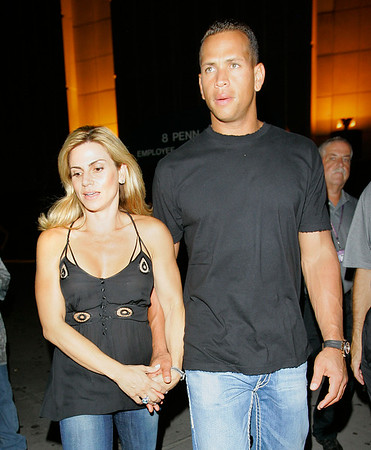15 Aug 2007 - New York, NY - Alex Rodriguez and wife Cynthia Rodriguez depart Justin Timberlake's concert at MSG.  Photo Credit Jackson Lee