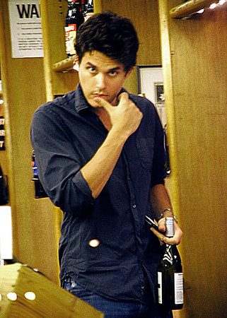 15 Aug 2007 - New York, NY - John Mayer buys bottles of wine while out and about in NYC.  Who is the lucky date tonight?  Photo Credit Jackson Lee