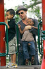 26 Aug 2007 - New York, NY - Brad Pitt takes his kids Maddox, Pax and Zahara to a park on the Upper East Side in New York City.  Photo Credit Jackson Lee