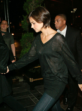 Katie Holmes wear a sheer see-through top while out with Tom Cruise in NYC