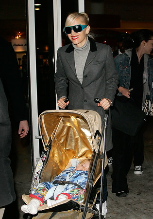 Gwen Stefani and Baby Kingston Rossdale arrive to NYC
