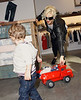 Gwen Stefani takes Kingston Rossdale out shopping in SoHo.  This is the first of two stores that they visited.