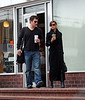 EXCLUSIVE: Nick Lachey and Vanessa Minnillo get their Starbucks fix while out and about in NYC