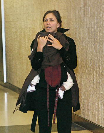 Maggie Gyllenhaal arrives to JFK Airport in NYC from London.  Photo Credit: Jackson Lee