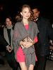 Natalie Portman out and about in NYC in a pink dress covered by a grey shawl