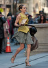 Sarah Jessica Parker returns a book to main NY Public Library for a scene for 'Sex and the City - The Movie'