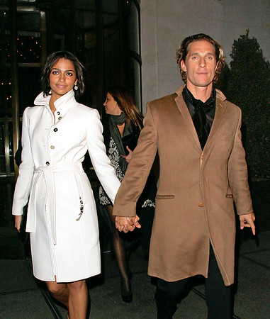 Matthew McConaughey and Camila Alves at a Dolce & Gabbana party at Gramercy Park Hotel in NYC