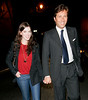 7 Jan 2008 - New York, NY - Anne Hathaway and Raffaello Follieri out for dinner at the Waverly Inn.   Photo Credit Jackson Lee