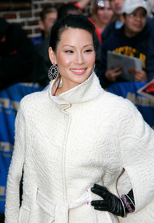 8 Jan 2008 - New York, NY - Lucy Liu at David Letterman Show.   Photo Credit Jackson Lee