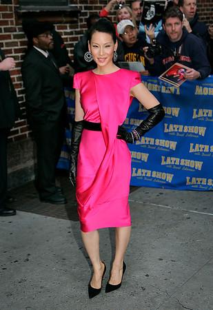 8 Jan 2008 - New York, NY - Lucy Liu at David Letterman Show.   Photo Credit Jackson Lee
