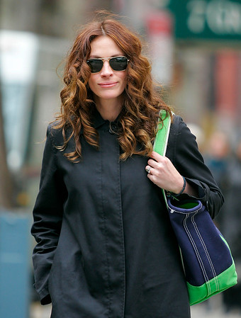 05 March 2008 - New York, NY - Julia Roberts out and about in NYC.   Photo Credit Jackson Lee