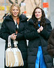 14 March 2008 - New York, NY - Blake Lively and Leighton Meester walk back to her trailer.   Photo Credit Jackson Lee/Ahmad Elatab
