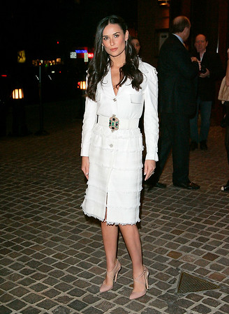 24 March 2008 - New York, NY - Demi Moore promotes her new film 'Flawless' in NYC.   Photo Credit Jackson Lee