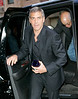 EXCLUSIVE<br /> 2 April 2008 - New York, NY - George Clooney out for dinner with Cindy Crawford and Rande Gerber for the second night in a row.   Photo Credit Jackson Lee