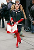 7 April 2008 - New York, NY - Leighton Meester on the set of 'Gossip Girl'.   Photo Credit Jackson Lee