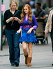 EXCLUSIVE<br /> 12 April 2008 - New York, NY - Isla Fisher films 'Confessions of a Shopaholic' in NYC.   Photo Credit Jackson Lee