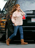 EXCLUSIVE<br /> 12 April 2008 - New York, NY - Isla Fisher out and about in NYC.   Photo Credit Jackson Lee
