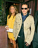 14 April 2008 - New York, NY - Jennifer Lopez and Marc Anthony depart the Waverly Inn after attending a birthday party for Georgina Chapman.   Photo Credit Jackson Lee