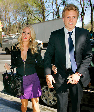16 April 2008 - New York, NY - Heidi Montag and Spencer Pratt out and about in NYC.   Photo Credit Jackson Lee
