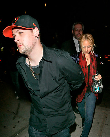 16 April 2008 - New York, NY - Nicole Richie and Joel Madden hangs out with Ashlee Simpson and Pete Wentz.   Photo Credit Jackson Lee