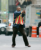27 April 2008 - New York, NY - Denzel Washington films 'The taking of Pelham 123' in NYC.   Photo Credit Jackson Lee