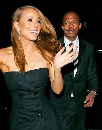8 May 2008 - New York, NY - Newlyweds Mariah Carey and Nick Cannon make their first public appearance together as they depart the Waverly Inn after having dinner.  The couple is all smiles as they walk hand-in-hand back to their car.   Photo Credit Jackson Lee