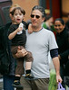 17 May 2008 - New York, NY - Jon Stewart, wifeTracey McShane, son Nathan Thomas Stewart, and daughter Maggie Rose Stewart gets ice cream and take a walk on a warm day in NYC.  Photo Credit Jackson Lee