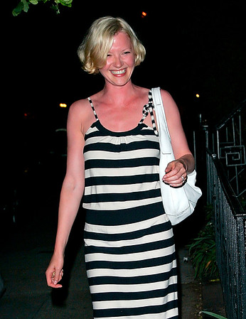 26 May 2008 - New York, NY - Gretchen Mol out for dinner at the Waverly Inn.  Photo Credit Jackson Lee