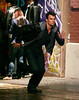 28 May 2008 - New York, NY - Josh Duhamel films a moving scene on the set of 'When in Rome'.  Photo Credit Jackson Lee