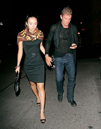 29 May 2008 - New York, NY - Zhang Ziyi and Aviv Nevo out for dinner at the Waverly Inn.  Photo Credit Jackson Lee