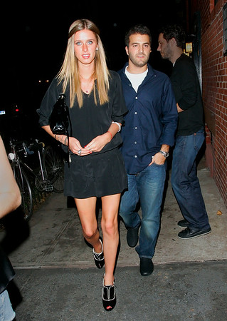 30 May 2008 - New York, NY - Nicky Hilton and David Katzenberg out for dinner at the Waverly Inn.  Photo Credit Jackson Lee