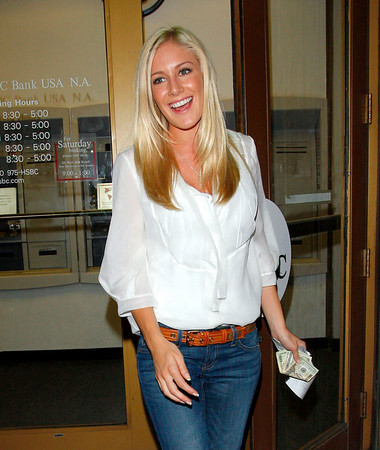9 June 2008 - New York, NY - Heidi Montag takes out $160.00 and pays a $1.75 withdraw fee at a HSBC ATM machine.  Photo Credit Jackson Lee