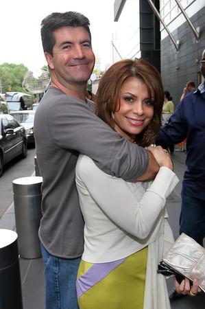 Simon Cowell, Paula Abdul<br /> are seen outside the Mandarin Oriental Hotel in NYC<br /> 05/19/2005<br /> LJNY