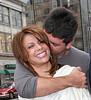 Simon Cowell lovingly nibbles on Paula Abdul's ears<br /> outside of the Mandarin Oriental Hotel in NYC<br /> 05/19/2005<br /> LJNY