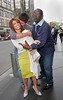 Simon Cowell, Paula Abdul, Randy Jackson<br /> are seen outside the Mandarin Oriental Hotel in NYC<br /> 05/19/2005<br /> LJNY