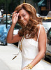 Beyonce Knowles arrives at the Ronald McDonald House NYC to visit kids undergoing treatment - July 30, 2005<br /> NO US