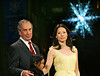 28 November 2005 - New York, NY - Michael Bloomberg and Lucy Liu at the second annual UNICEF Snowflake lighting ceremony.  Photo Credit Jackson Lee/Admedia