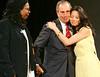 28 November 2005 - New York, NY - Whoopi Goldberg, Michael Bloomberg, Lucy Liu at the second annual UNICEF Snowflake lighting ceremony.  Photo Credit Jackson Lee/Admedia