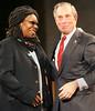 28 November 2005 - New York, NY - Whoopi Goldberg and Michael Bloomberg at the second annual UNICEF Snowflake lighting ceremony.  Photo Credit Jackson Lee/Admedia