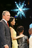 28 November 2005 - New York, NY - Michael Bloomberg and Lucy Liu watch the crystal snowflake light up at the second annual UNICEF Snowflake lighting ceremony.  Photo Credit Jackson Lee/Admedia