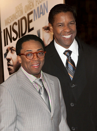 19 March 2006 - New York, NY - Spike Lee and Denzel Washington at the NY Premiere of 'Inside Man' at the Ziegfeld Theatre.  Photo Credit Jackson Lee/Admedia