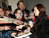 28 March 2006 - New York, NY - Julia Roberts signs autographs outside the location where her Broadway show 'Three Days of Rain' is performing.  Photo Credit Jackson Lee/Admedia