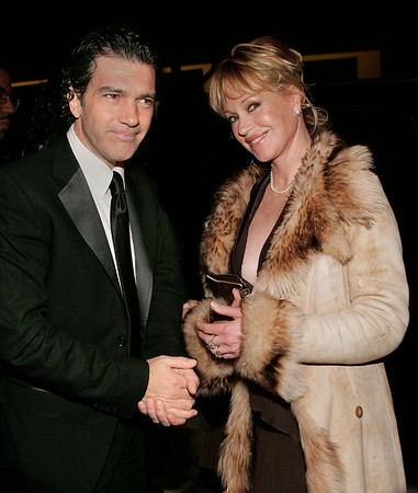 04 April 2006 - New York, NY - Melanie Griffith and Antonio Banderas depart the World Premiere of 'Take the Lead' at Lowes Lincoln Square Theatre.  Photo Credit Jackson Lee/Admedia